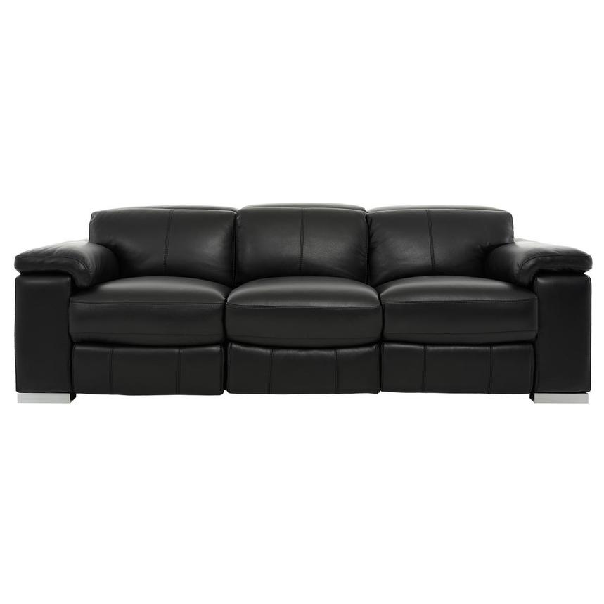 Charlie Black Power Motion Leather Sofa  main image, 1 of 10 images.