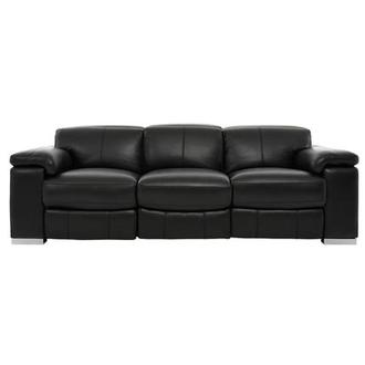 Charlie Black Power Motion Leather Sofa