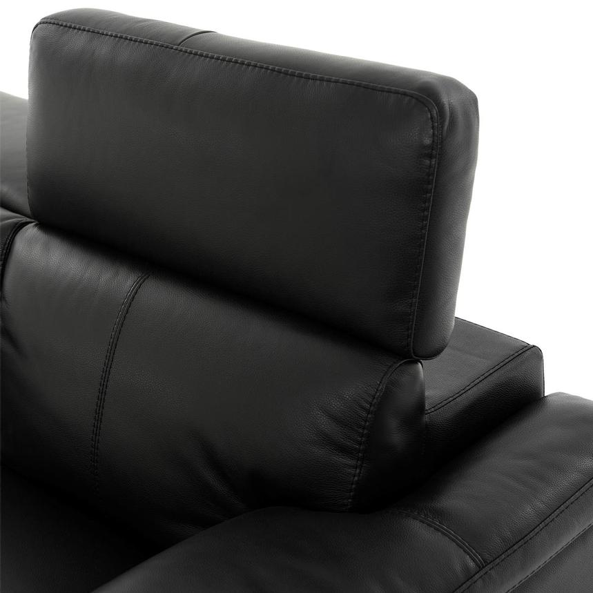 Charlie Black Power Motion Leather Sofa  alternate image, 6 of 10 images.