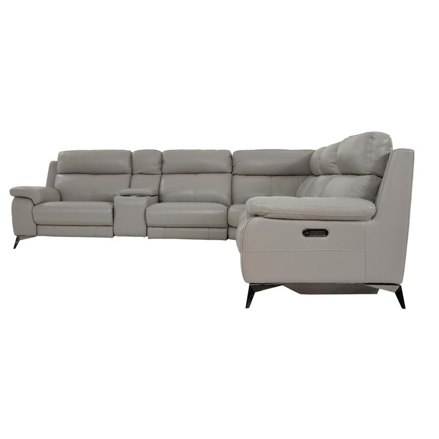 Barry Gray Leather Power Reclining Sectional  alternate image, 5 of 14 images.
