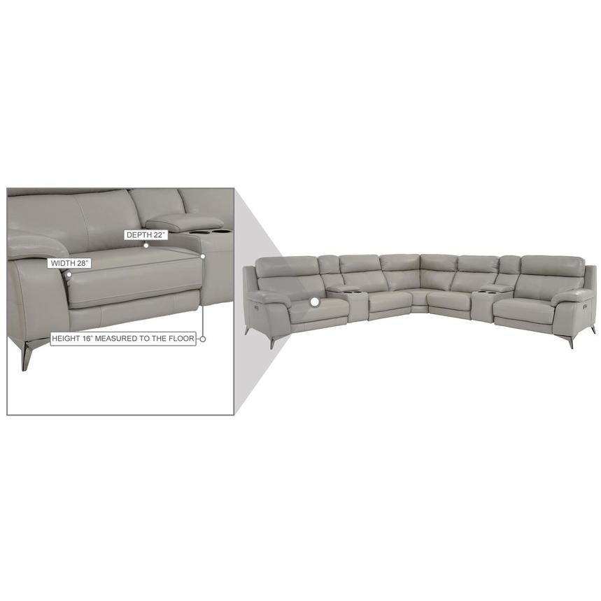 Barry Gray Leather Power Reclining Sectional  alternate image, 14 of 14 images.