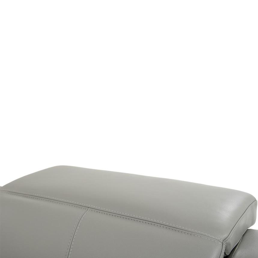 Davis 2.0 Light Gray Leather Power Reclining Sectional  alternate image, 6 of 10 images.