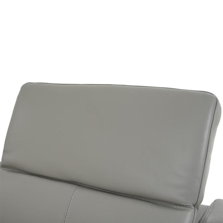 Davis 2.0 Light Gray Leather Power Reclining Sectional  alternate image, 5 of 11 images.
