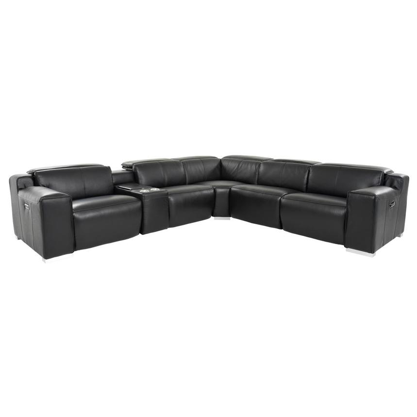 Jeremy Power Motion Leather Sofa w/Right & Left Recliners  main image, 1 of 10 images.