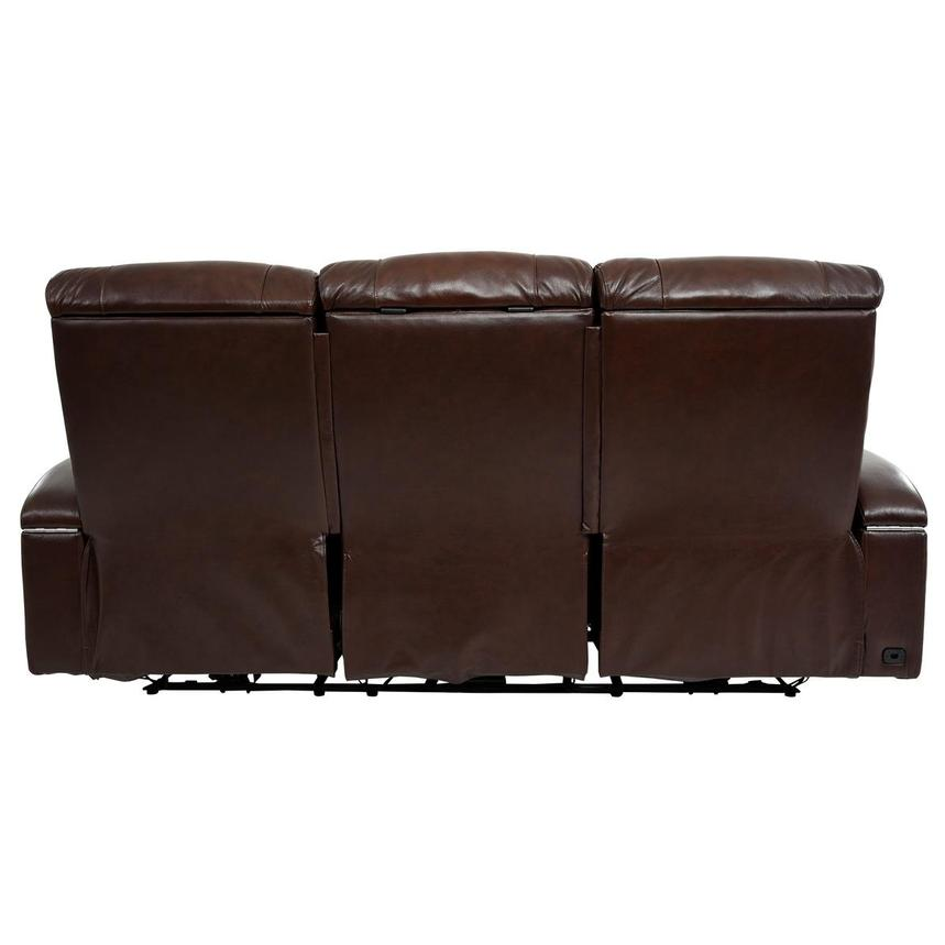 Gio Brown Leather Power Reclining Sofa  alternate image, 5 of 18 images.