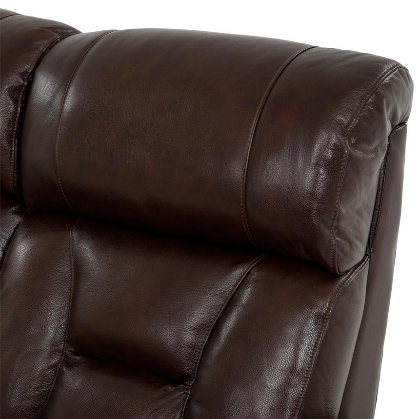 Gio Brown Leather Power Reclining Sofa  alternate image, 6 of 18 images.