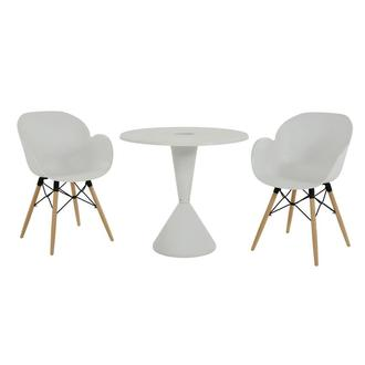 Naples/Salerno White 3-Piece Casual Dining Set