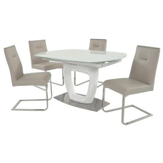 Giuli/Stina Cream 5-Piece Formal Dining Set