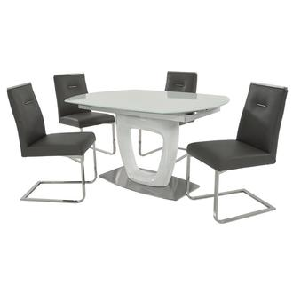 Giuli/Stina Gray 5-Piece Formal Dining Set
