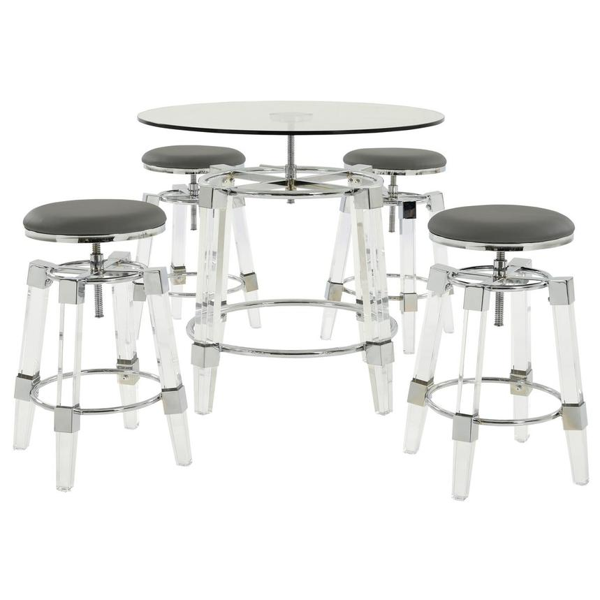 Julie Gray 5-Piece Casual Dining Set  main image, 1 of 12 images.