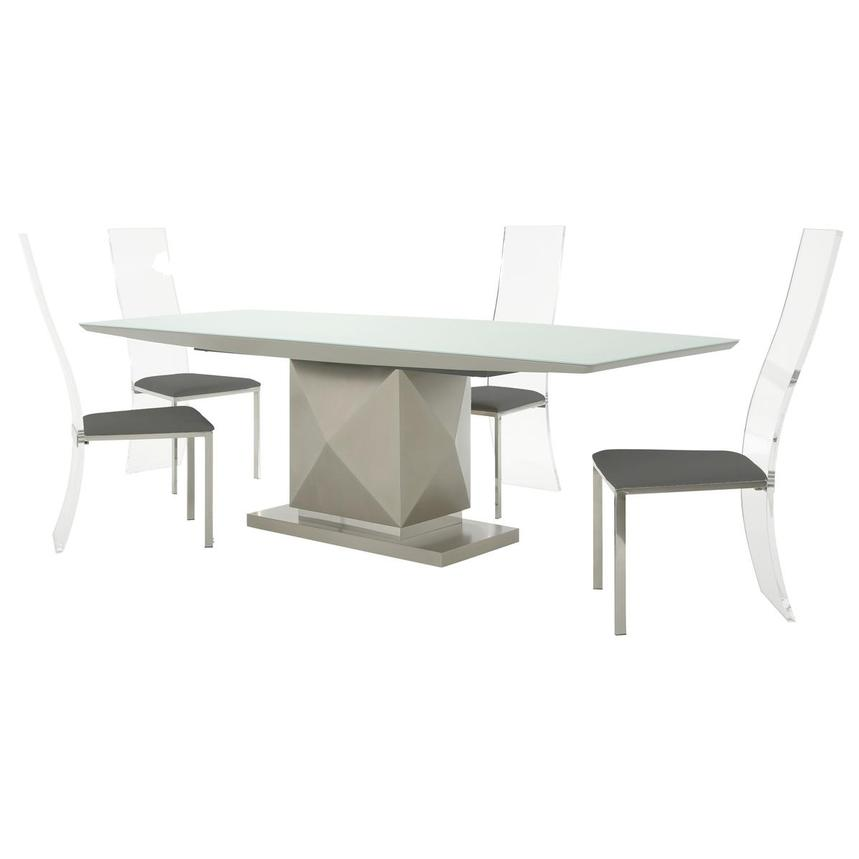 Marlon/Layra Gray 5-Piece Formal Dining Set  main image, 1 of 14 images.