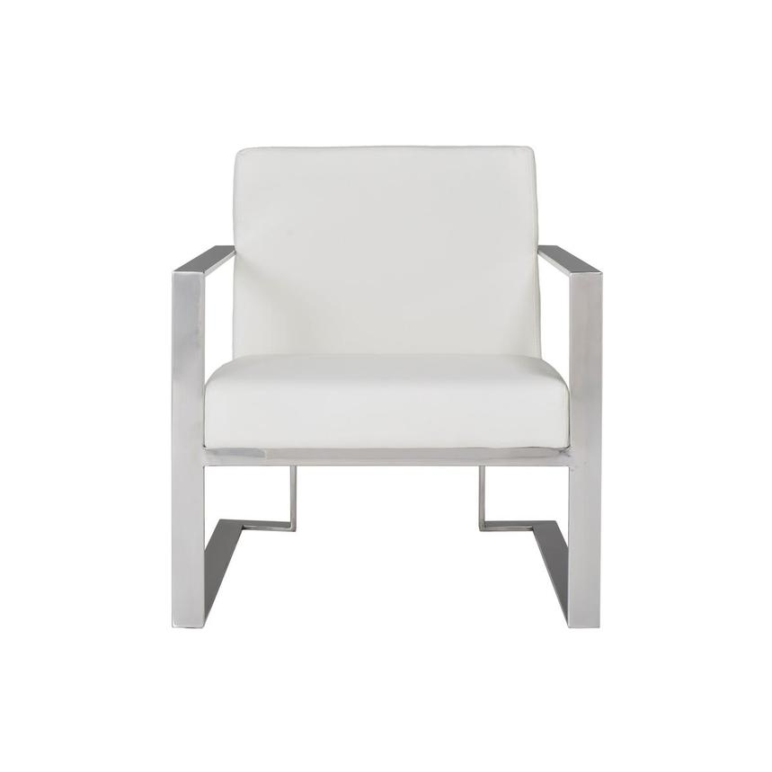 Ace White Accent Chair  main image, 1 of 9 images.
