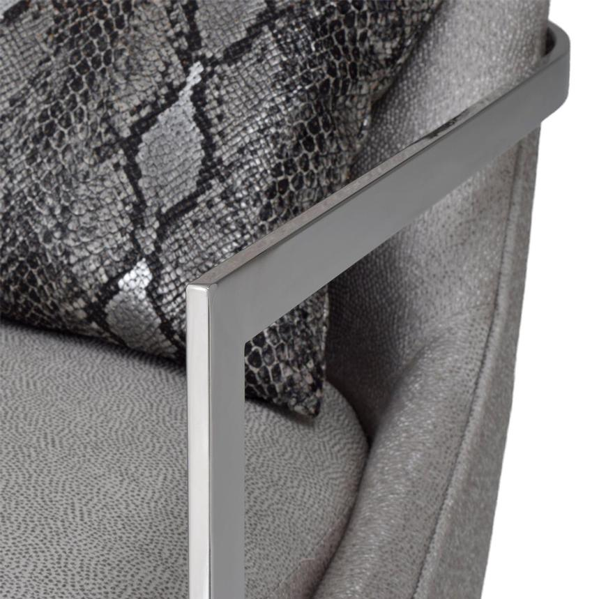 Dimitra Gray Accent Chair  alternate image, 7 of 9 images.