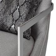 Dimitra Gray Accent Chair  alternate image, 7 of 8 images.