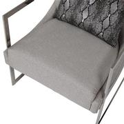 Dimitra Gray Accent Chair  alternate image, 8 of 9 images.