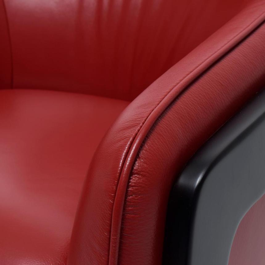Irene II Red Leather Accent Chair  alternate image, 6 of 8 images.