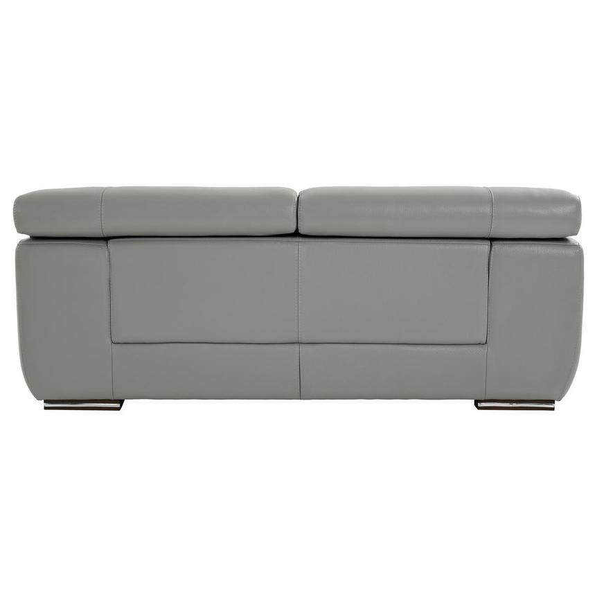 Grace Light Gray Leather Loveseat  alternate image, 5 of 9 images.