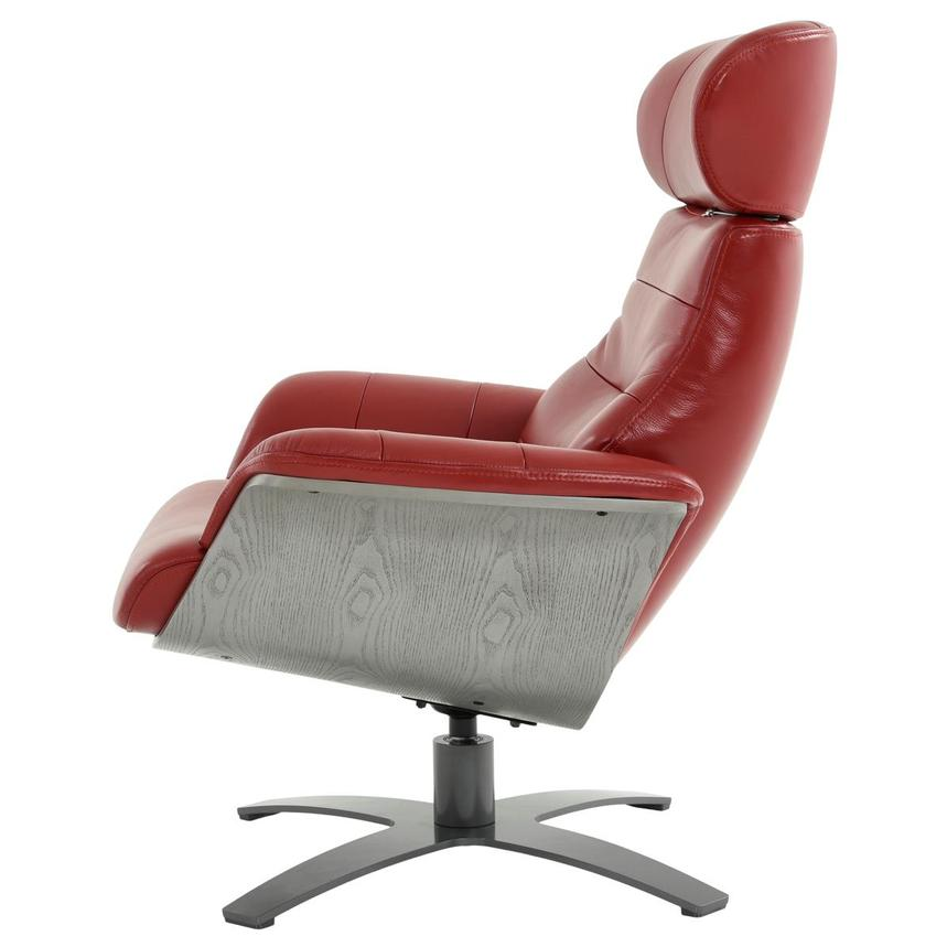 Enzo II Red Leather Swivel Chair  alternate image, 5 of 13 images.