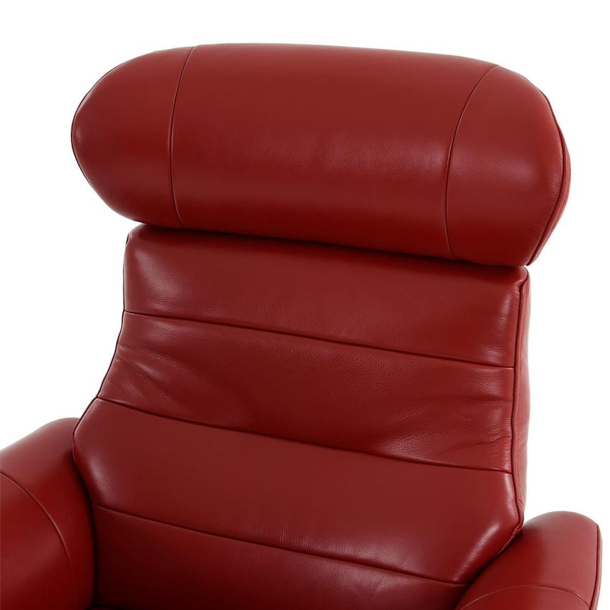 Enzo II Red Leather Swivel Chair  alternate image, 7 of 13 images.