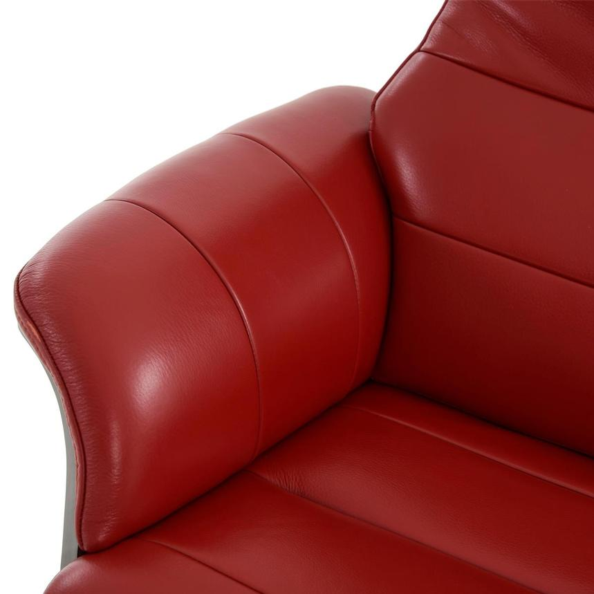 Enzo II Red Leather Swivel Chair  alternate image, 12 of 13 images.