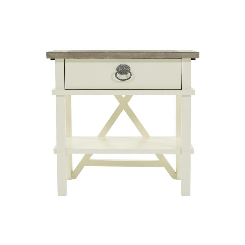 Summer Creek White Open Nightstand