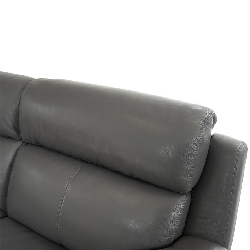 Matteo Gray Leather Power Reclining Sectional  alternate image, 5 of 11 images.