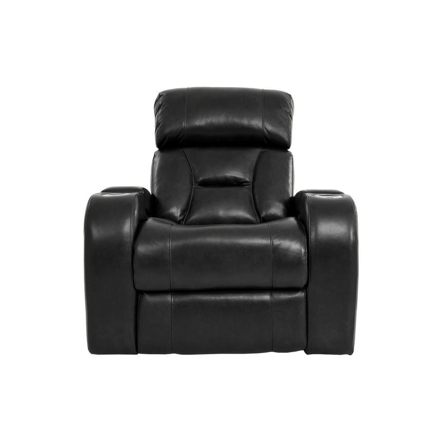 Gio Black Power Motion Leather Recliner  main image, 1 of 12 images.