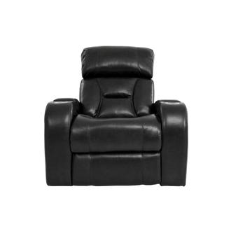 Gio Black Leather Power Recliner