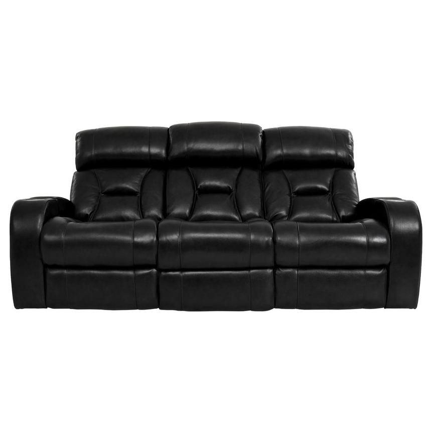 Gio Black Leather Power Reclining Sofa  main image, 1 of 18 images.