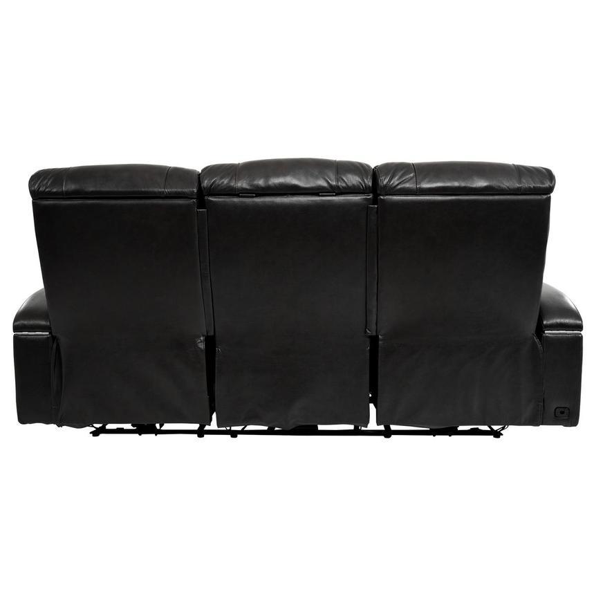 Gio Black Leather Power Reclining Sofa