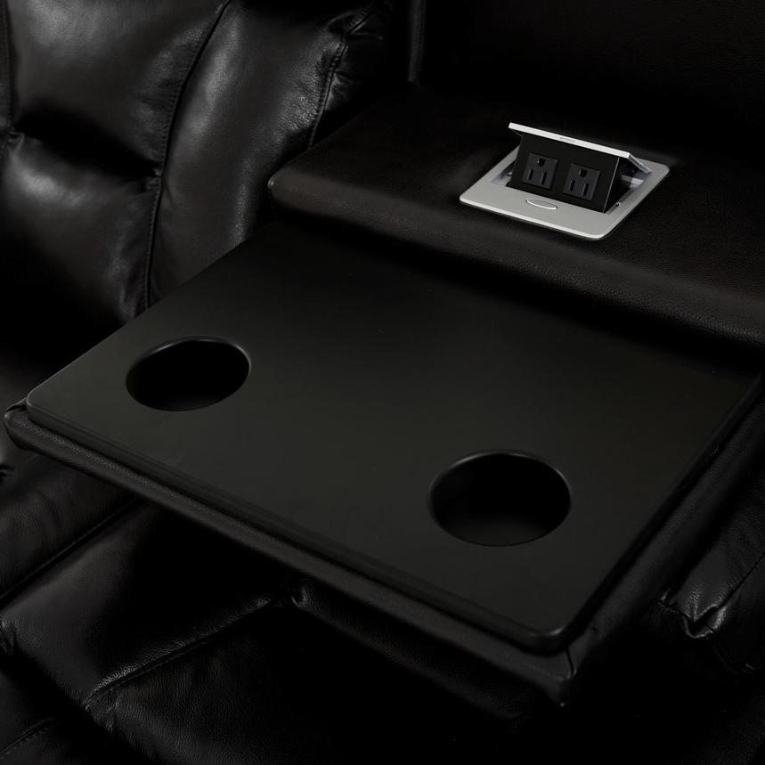 Gio Black Leather Power Reclining Sofa  alternate image, 11 of 18 images.
