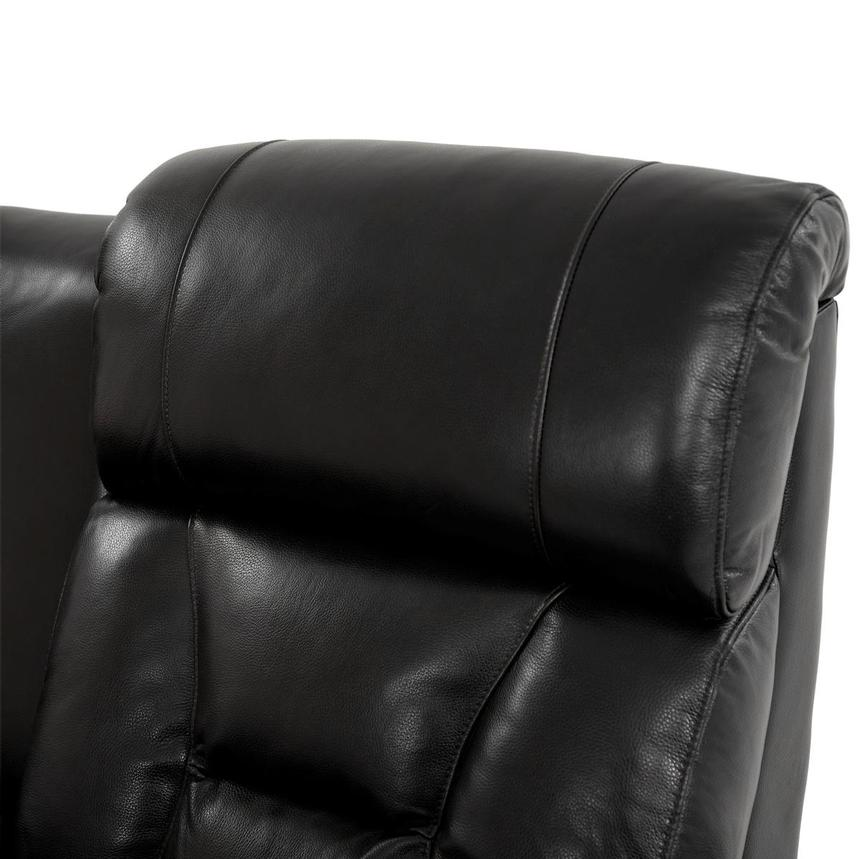 Gio Black Power Motion Leather Sofa w/Console  alternate image, 6 of 13 images.