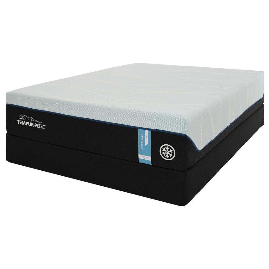 Luxe-Breeze Soft Queen Mattress w/Low Foundation by Tempur-Pedic  alternate image, 3 of 6 images.