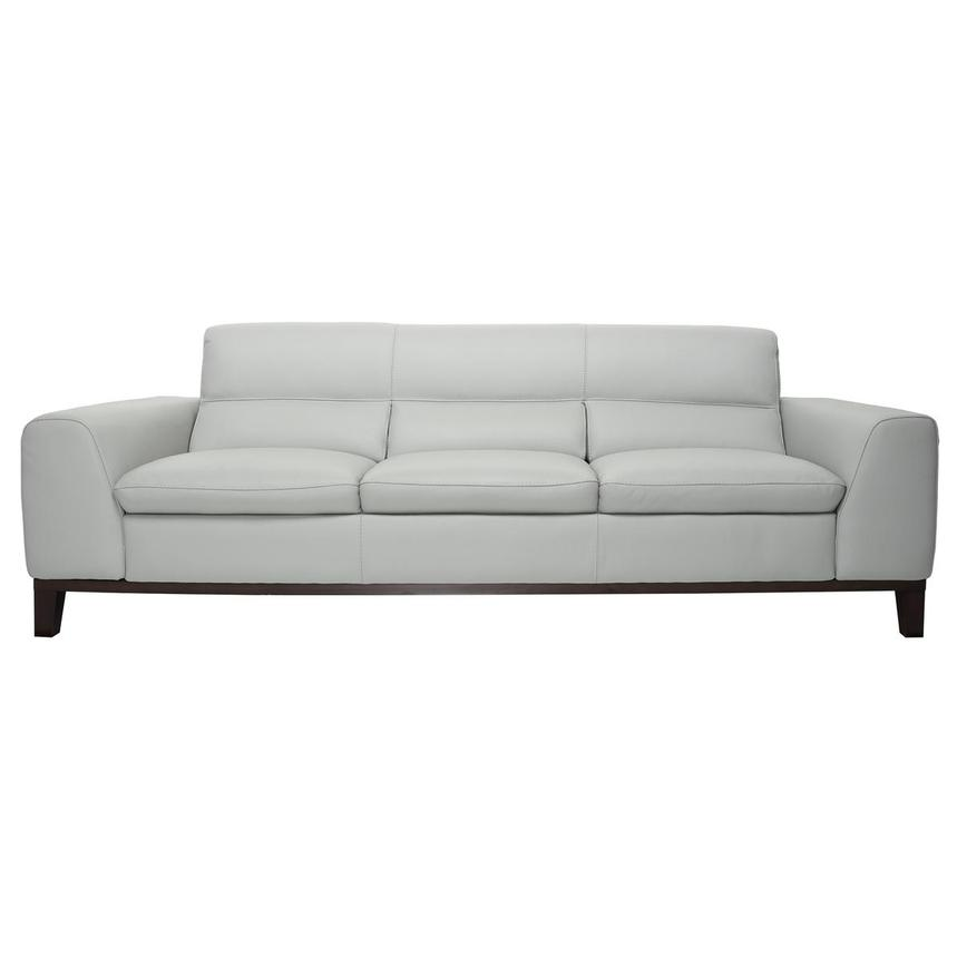 Milani Gray Leather Sofa