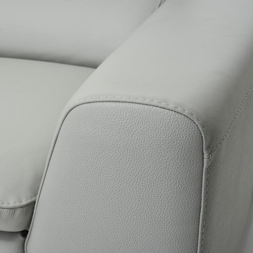 Milani Gray Leather Sofa El Dorado Furniture