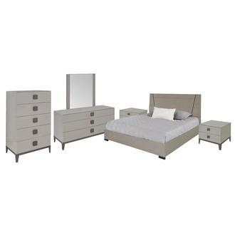 Mont Blanc Gray 6-Piece Queen Bedroom Set Made in Italy
