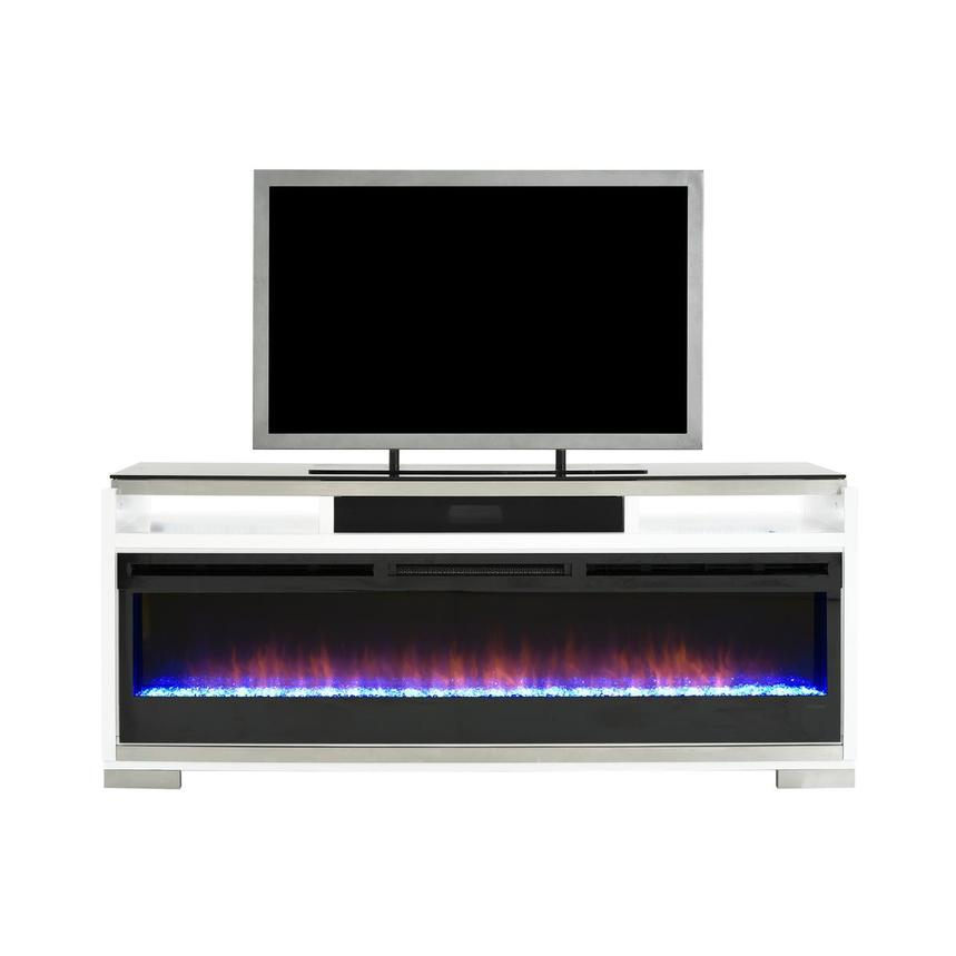 Teire Faux Fireplace w/Speakers