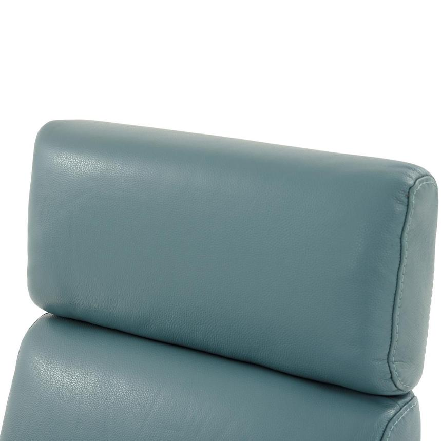 Lucca Blue Leather Power Recliner  alternate image, 6 of 9 images.