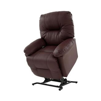 Wynette Burgundy Power-Lift Leather Recliner