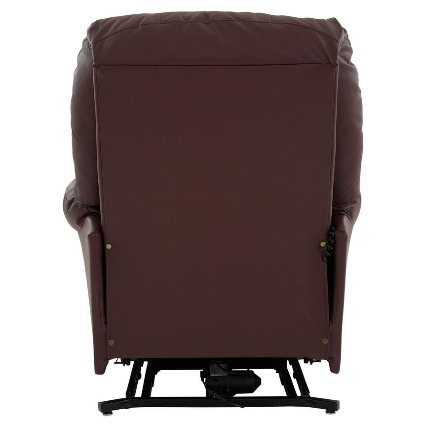 Wynette Burgundy Leather Power Lift Recliner  alternate image, 6 of 9 images.