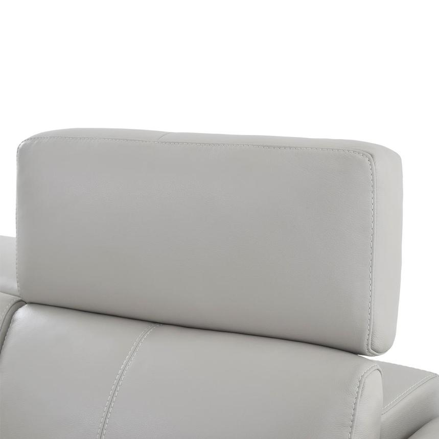 Charlie Light Gray Leather Power Reclining Sofa  alternate image, 6 of 11 images.