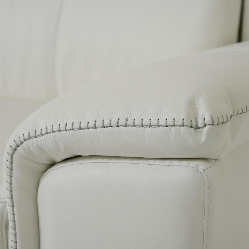 Davis 2.0 White Leather Power Reclining Sectional  alternate image, 7 of 11 images.