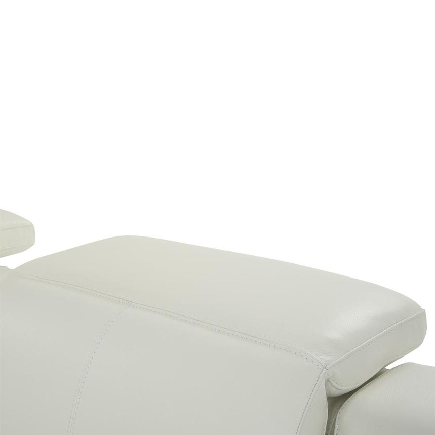 Davis 2.0 White Leather Power Reclining Sectional  alternate image, 6 of 10 images.
