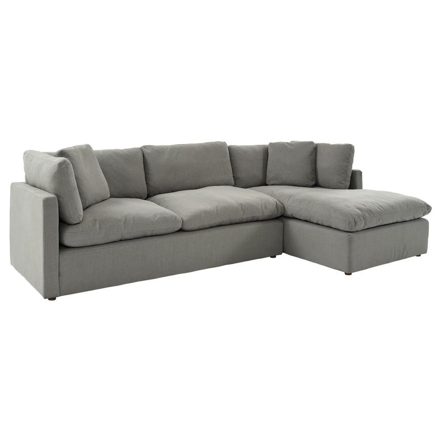 Neapolis Gray Corner Sofa w/Right Chaise  main image, 1 of 6 images.