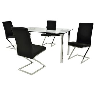 Julli/Jade Black 5-Piece Casual Dining Set