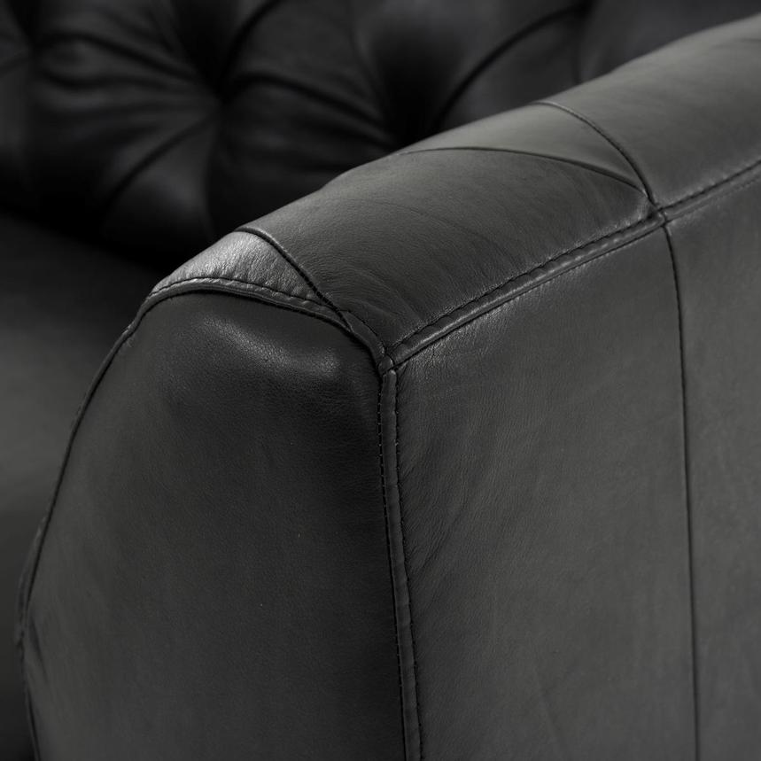 Diana Black Leather Chair  alternate image, 5 of 6 images.