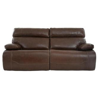 Lenier Brown Leather Power Reclining Sofa