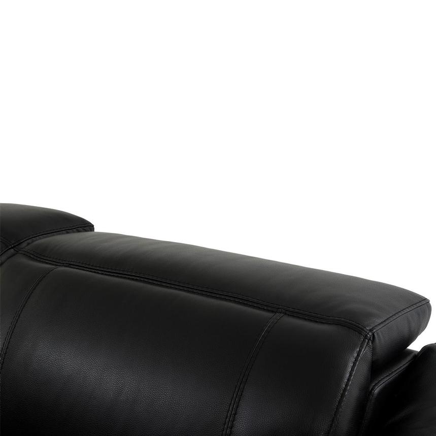 Austin Black Leather Power Reclining Sectional  alternate image, 6 of 8 images.