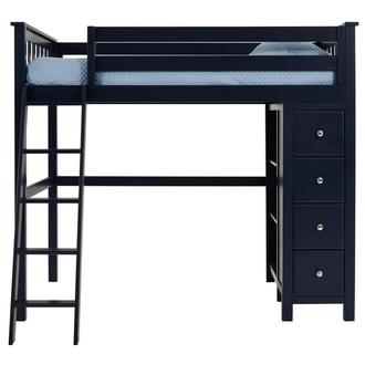 Haus Blue Twin Loft Bed w/Chest
