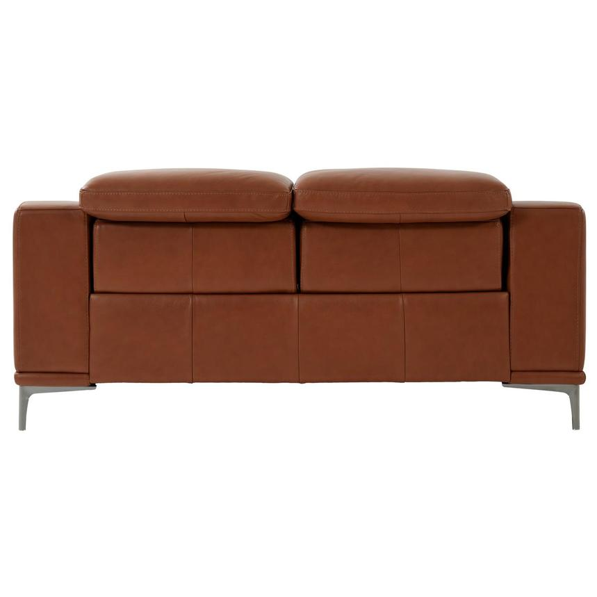 Katherine Tan Leather Power Reclining Loveseat  alternate image, 5 of 10 images.